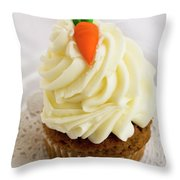 A Carrot Muffin Throw Pillow