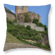 A Castle Among The Vineyards Throw Pillow