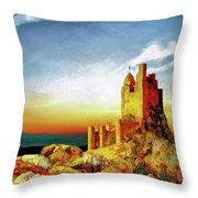 A Castle In Spain Throw Pillow