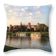 A Castle On The River Throw Pillow