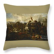 A Cavalry Engagement Throw Pillow