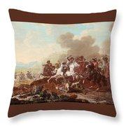 A Cavalry Skirmish Throw Pillow
