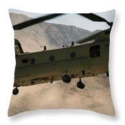 A Ch-47 Chinook Helicopter Kicks Throw Pillow