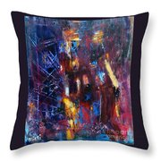 A Chance Meeting In The City Throw Pillow