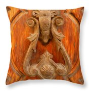 A Charming Entrance Throw Pillow