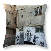 A Child In Palestine Throw Pillow