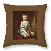 A Child Of The Pierpont Family Throw Pillow