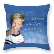 A Child's Smile Throw Pillow