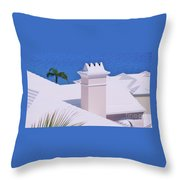 A Chimney At Tucker's Point, Bermuda Throw Pillow