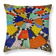 A Chip Off The Ole Mosaic Throw Pillow