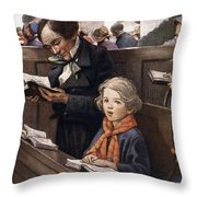 A Christmas Carol Throw Pillow