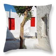 A Church And A Tree Throw Pillow