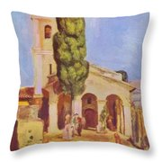 A Church At Cagnes Throw Pillow