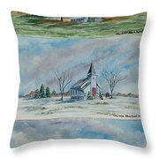 A Church For All Seasons Throw Pillow