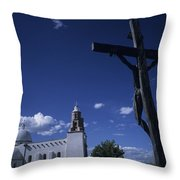A Church In Colorado Displaying Throw Pillow