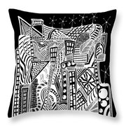 A City 2...   -  Une Ville 2... Throw Pillow