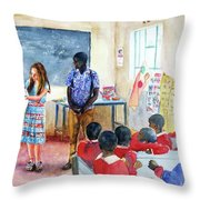 A Classroom In Africa Throw Pillow