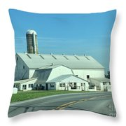 A Clear Amish Day Throw Pillow