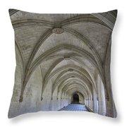A Cloister Gallery Throw Pillow