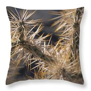 A Closeup Of Tha Natural Defensives Throw Pillow