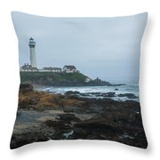 A Cloudy Day At Pigeon Point Throw Pillow