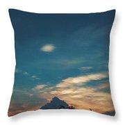 A Cloudy Mountain  Throw Pillow
