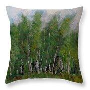 A Cluster Of Birch Throw Pillow