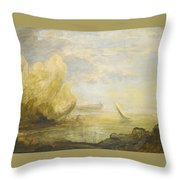 A Coastal Landscape Throw Pillow