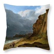 A Coastal Scene Throw Pillow