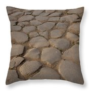 A Cobblestone Road In Rome Throw Pillow