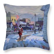 A Cold Afternoon In Tonawanda Throw Pillow