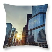 A Cold Chicago Day Throw Pillow