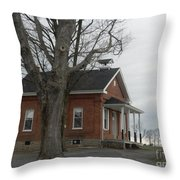 A Cold Day At School Throw Pillow