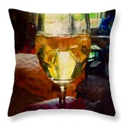 A Cold Glass Of Wine Throw Pillow