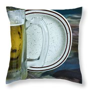 A Cold One For A Treat Throw Pillow