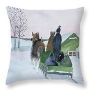 A Cold Ride Throw Pillow