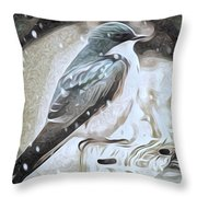 A Cold Winter Day Throw Pillow