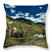 A Colorado Autumn Throw Pillow