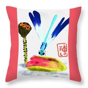 A Colorful Day Throw Pillow