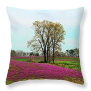 A Colorful Field Throw Pillow