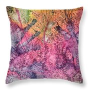 A Colorful Lecture On Glitter Throw Pillow