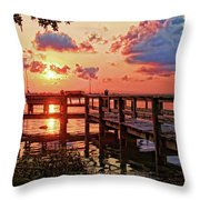 A Colorful Sunrise Throw Pillow