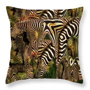A Confusion Of Zebras Throw Pillow