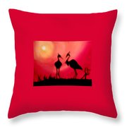 A Conversation Throw Pillow