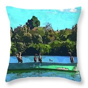 A Cormorant Cruise 2 Throw Pillow