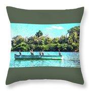 A Cormorant Cruise Throw Pillow