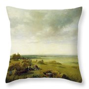 A Corn Field Throw Pillow by Peter de Wint