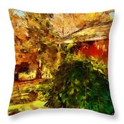 A Corner Of Autumn  Throw Pillow