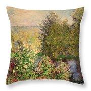 A Corner Of The Garden At Montgeron Throw Pillow