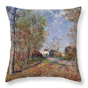A Corner Of The Woods At Sablons Throw Pillow